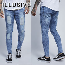 ILLUSIVE LONDON Denim Street Style Plain Skinny Fit Jeans & Denim