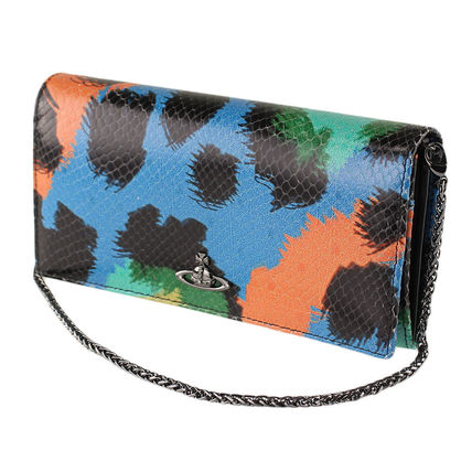 Other Animal Patterns Leather Long Wallets