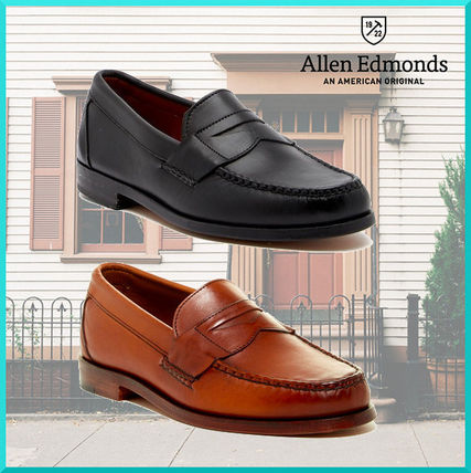 Loafers Plain Leather U Tips Oxfords