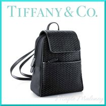 Tiffany & Co Heart Casual Style Leather Backpacks