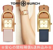Tory Burch Casual Style Leather Square Quartz Watches Analog Watches