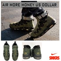 Nike AIR MORE MONEY Street Style Collaboration Oversized Sneakers