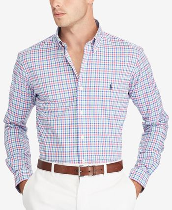 Other Check Patterns Long Sleeves Cotton Shirts