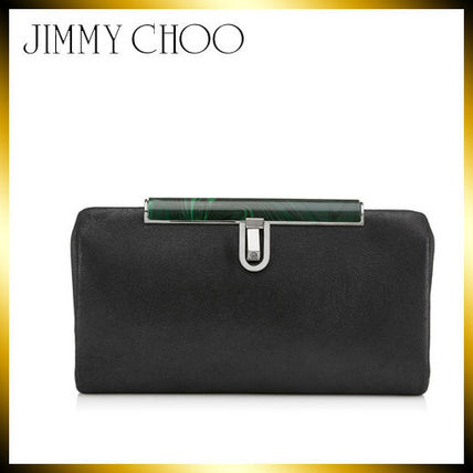 2WAY Plain Leather Clutches