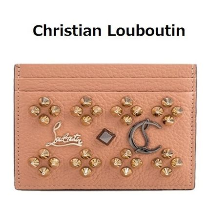 Studded Leather Card Holders