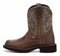 Justin Boots Cowboy Boots Leather Mid Heel Boots