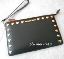 Michael Kors Heart 2WAY Plain Leather Clutches
