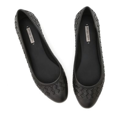 Plain Leather Office Style Flats