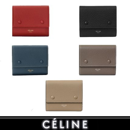 CELINE Folding Wallets Calfskin Bi-color Plain Folding Wallets