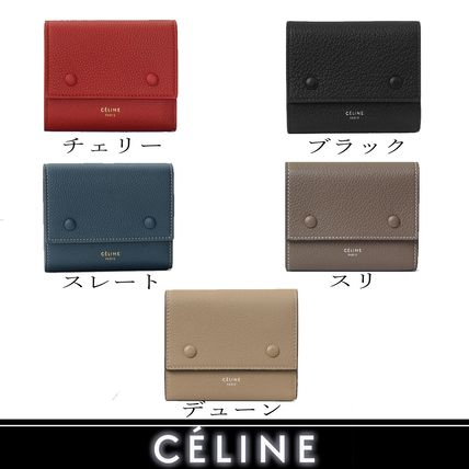 CELINE Folding Wallets Calfskin Bi-color Plain Folding Wallets 2