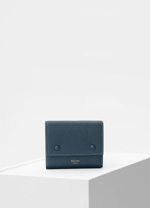 CELINE Folding Wallets Calfskin Bi-color Plain Folding Wallets 7