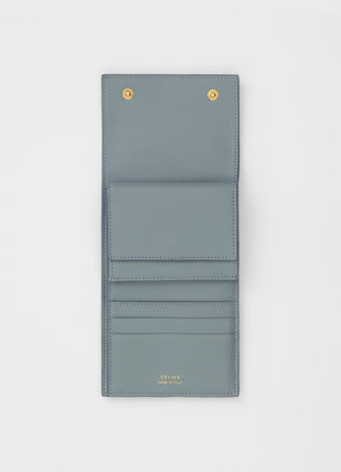 CELINE Folding Wallets Calfskin Bi-color Plain Folding Wallets 9