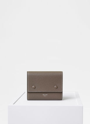 CELINE Folding Wallets Calfskin Bi-color Plain Folding Wallets 12