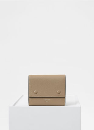 CELINE Folding Wallets Calfskin Bi-color Plain Folding Wallets 14
