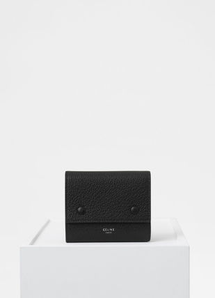 CELINE Folding Wallets Calfskin Bi-color Plain Folding Wallets 17