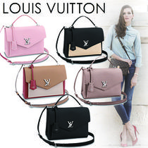 Louis Vuitton LOCKME Casual Style 2WAY Plain Leather Handbags