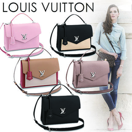 Louis Vuitton Handbags Casual Style 2WAY Plain Leather Handbags