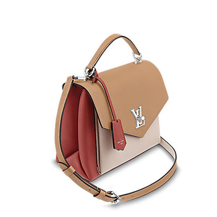Louis Vuitton Handbags Casual Style 2WAY Plain Leather Handbags 6