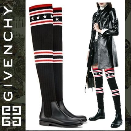 Stripes Star Round Toe Casual Style Rain Boots Boots