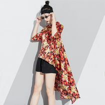 Casual Style Other Animal Patterns Shirts & Blouses