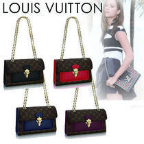Louis Vuitton MONOGRAM Monogram Canvas Chain Elegant Style Handbags