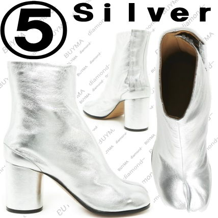 Maison Martin Margiela High Heel Plain Leather Block Heels Elegant Style High Heel Boots 3