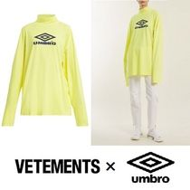 VETEMENTS Unisex Street Style Collaboration Long Sleeves Plain Cotton