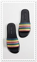 Alice+Olivia Stripes Casual Style Sandals Sandal