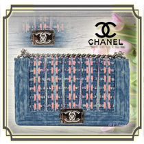 CHANEL BOY CHANEL 2WAY Chain Elegant Style Handbags