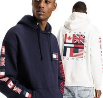 Tommy Hilfiger Unisex Street Style Long Sleeves Cotton Logos on the Sleeves