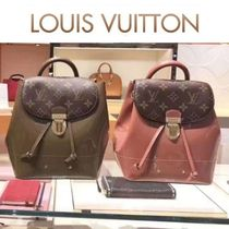 Louis Vuitton MONOGRAM Monoglam Blended Fabrics 3WAY Bi-color Leather Elegant Style