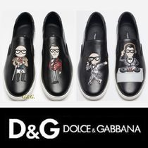 Dolce & Gabbana Street Style Leather Loafers & Slip-ons