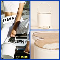 STAUD Casual Style 2WAY Plain Leather Shoulder Bags