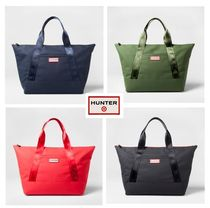 HUNTER Casual Style Street Style Collaboration Khaki Totes