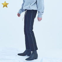 ANOTHERYOUTH Unisex Street Style Plain Skinny Fit Pants