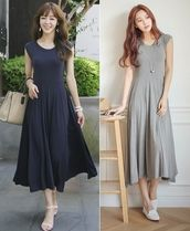 Maxi Sleeveless Plain Long Elegant Style Dresses