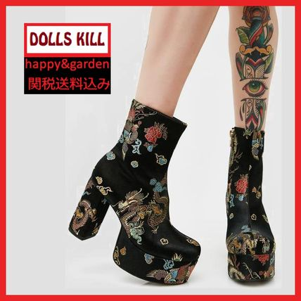 Casual Style Other Animal Patterns Block Heels