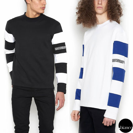 Stripes Street Style Long Sleeves Cotton