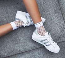 adidas SUPERSTAR Casual Style Street Style Bi-color Plain Leather Glitter