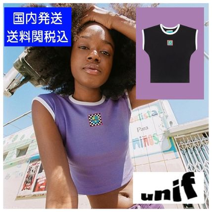 Crew Neck Short Casual Style Street Style Cotton