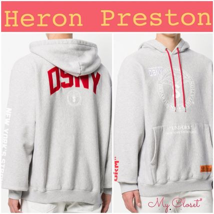 Pullovers Street Style Long Sleeves Cotton Oversized Hoodies