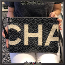 CHANEL ICON Flower Patterns Unisex Cambus Bag in Bag 2WAY Chain