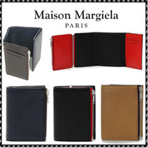 Maison Martin Margiela Bi-color Leather Folding Wallets