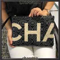 CHANEL ICON Flower Patterns Unisex Cambus Bag in Bag 2WAY Bi-color Chain