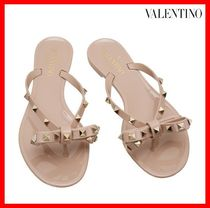 VALENTINO Casual Style Flip Flops Flat Sandals