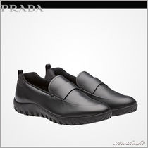 PRADA Plain Toe Plain Leather Loafers & Slip-ons