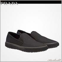 PRADA Plain Leather Loafers & Slip-ons