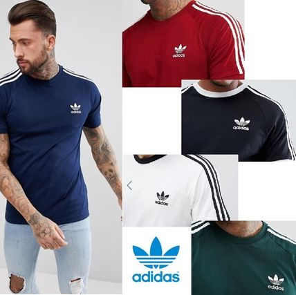 adidas More T-Shirts Street Style U-Neck Plain Cotton Short Sleeves T-Shirts
