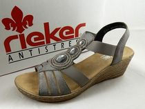rieker Round Toe Casual Style Faux Fur Footbed Sandals Flat Sandals