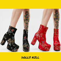 DOLLS KILL Casual Style Block Heels Ankle & Booties Boots